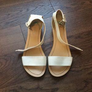 White Nine West Sandals